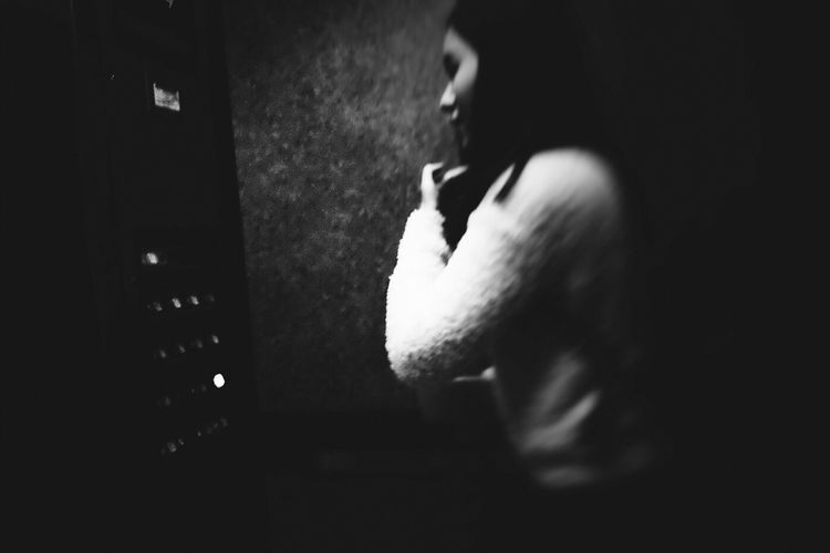 Street Photography Elevator Black And White Youth Culture Night Song ExpressYourself Eye4photography  Parallel Capture The Moment People Photography State Of Being Cinematic Point Of View Portrait Of A Woman Woman Portrait Woman Street Portrait Monocrome Streetphotography Dynamic City Life