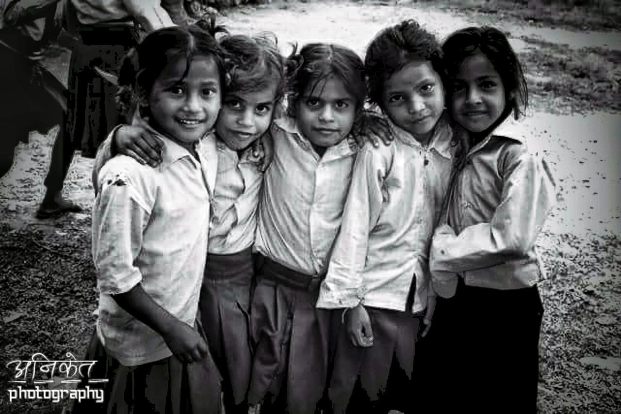 Child Looking At Camera Portrait Childhood Girls Children Only Males  Friendship Boys Archival Small Group Of People Elementary Age Education Smiling Cheerful Old-fashioned Happiness People Togetherness Back To School Nepal8thwonder NepalNow Nepal Nepalese Beauty Nepalipeople😊