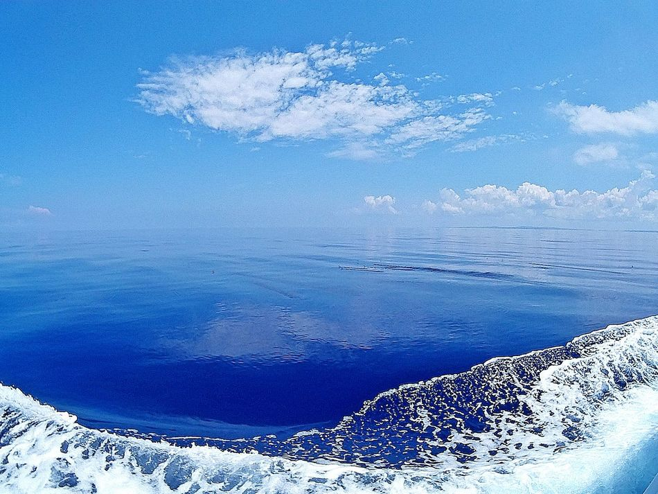 when sky and sea become one Colour Of Life Kerama Blue Cobalt Blue Sky And Sea Flat