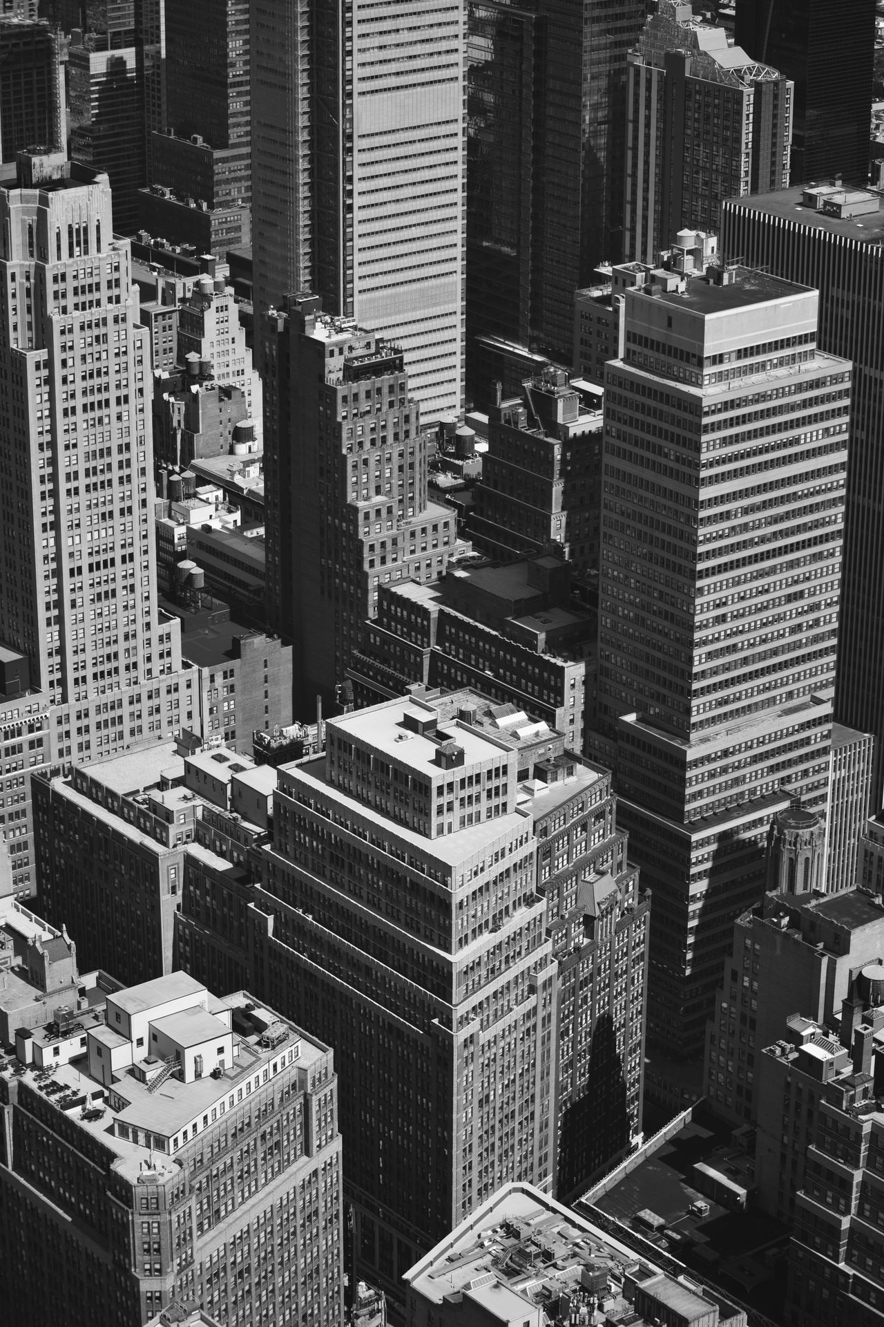 NY NYC Photography New York Skyscraper Architecture City Cityscape Blackandwhite Observatory Sky Travel Manhattan High Angle View