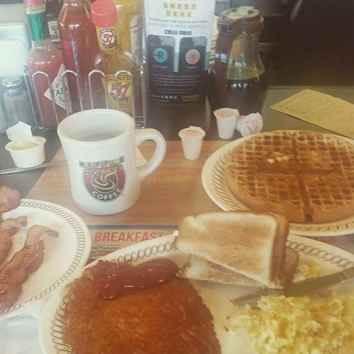 Oh the joy of being on the road in the south....Wafflehouse yes!!!!!!!!