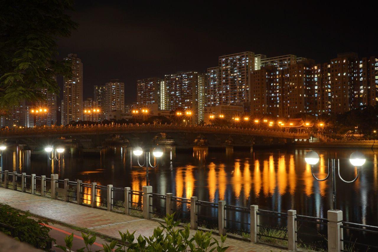 Night City Wonderful Hong Kong Night View Shatin Bequiet