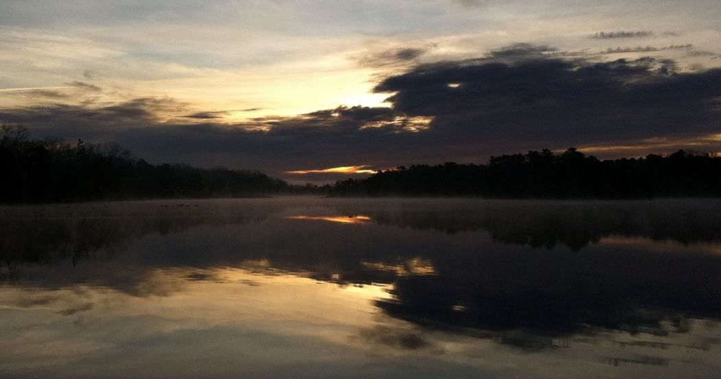 Reflection Nature Sky Beauty In Nature Sunset Water Scenics Tranquility Tranquil Scene Silhouette Idyllic Tree No People Outdoors Lake