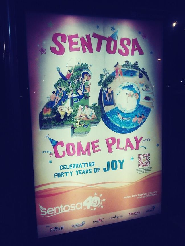 Sentosa Island, come play. Sea Singapore Checking In