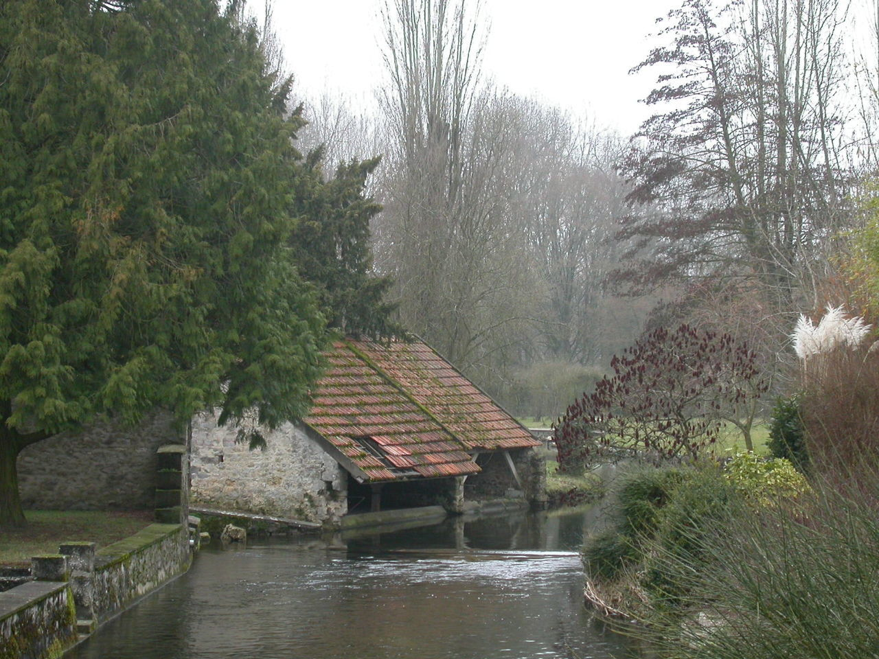 Architecture Beauty In Nature Built Structure Day France Lake Laverie Nature No People Outdoors River Scenics Sky Tree Water Water Wheel Watermill