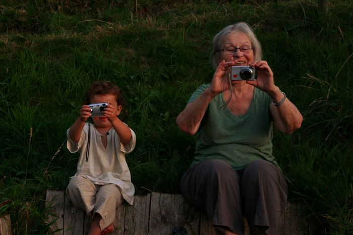Old But Awesome MyGrandMother And Little Cousin In The Swiss Alps Real Live Situation Summer People Time EyeEm. Eye4photography  EyeEm Best Shots EyeEm Gallery Open Edit Filter Beautiful @team Mobile Conversations