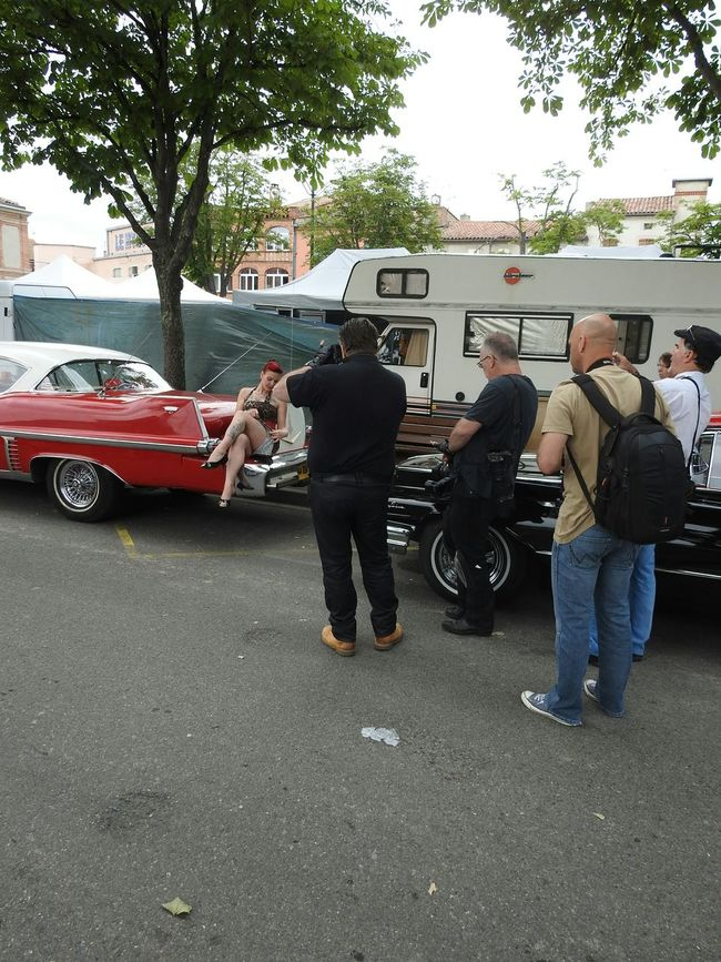 EyeEm Best Shots 50sPinUp Cadillac Models Photographing Photographers Rock And Cars Festival The Street Photographer - 2015 EyeEm Awards