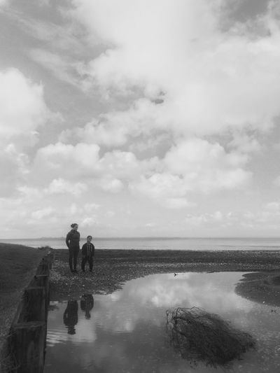 IPhoneography Blackandwhite Reflection Water Water Reflections Beach Snapseed Adventure Buddies Youth Of Today The Great Outdoors - 2016 EyeEm Awards