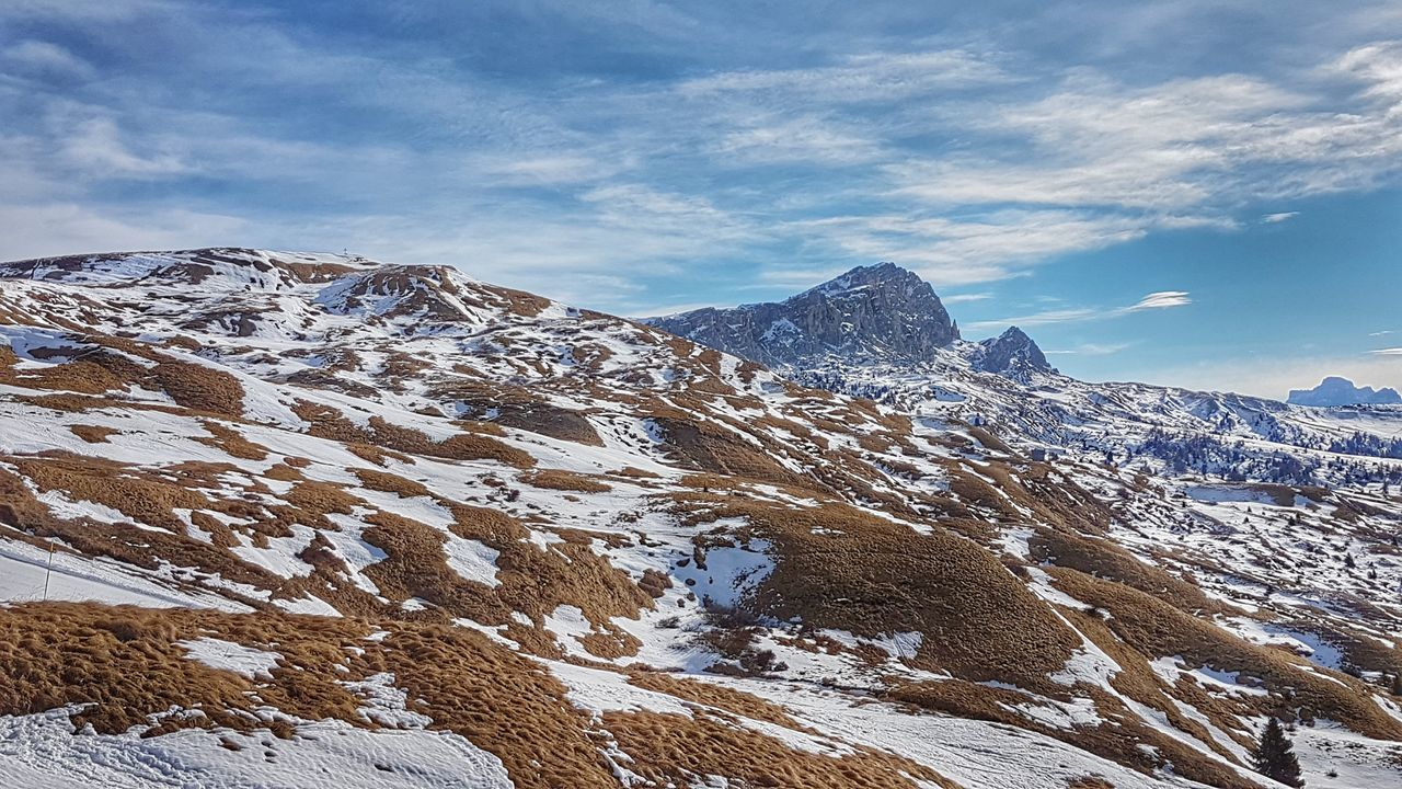 Mountains Dolomitisuperski Dolomiti Italy Altoadige Snow Scenics Spot Winter Outdoors Landscape Cloud - Sky Beauty In Nature Sky Mountain No People Nature Day Close-up