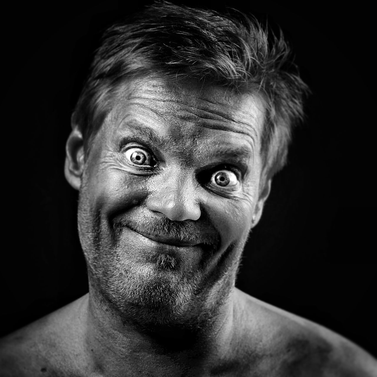 EyeEm Selects lol ThatsMe Portrait Looking At Camera Adults Only Black Background Mature Adult One Person Headshot Studio Shot Adult Human Face One Man Only People Human Body Part Only Men Senior Adult Close-up Real People Human Eye Indoors  Young Adult Blackandwhite Photography