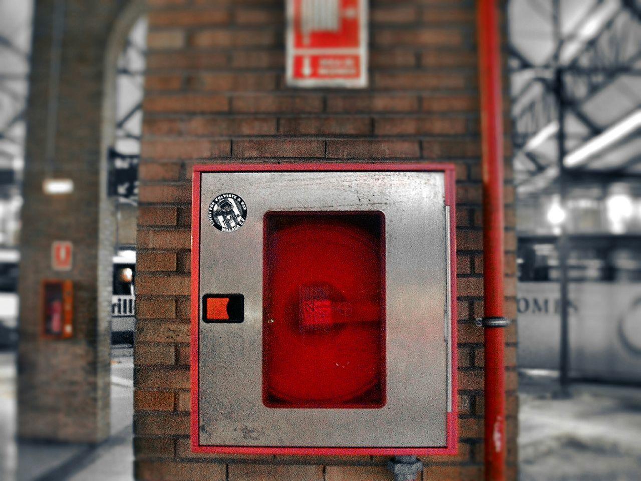 Malaga Spain, Andalucia, Malaga Street Photography Bus Station Red Urban Fire Hydrant