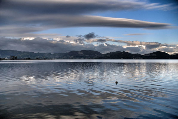Reflection at torre del lago by Valemami