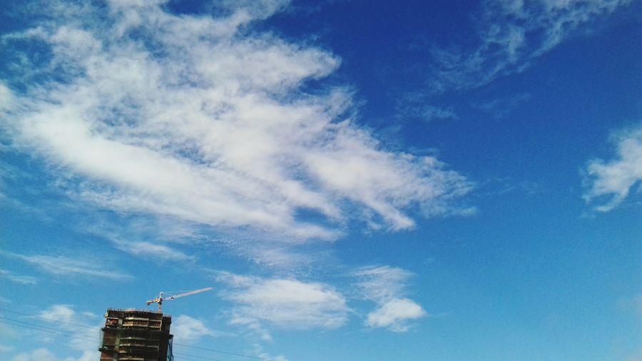 Sky Sky And Clouds Blue Céu Azul