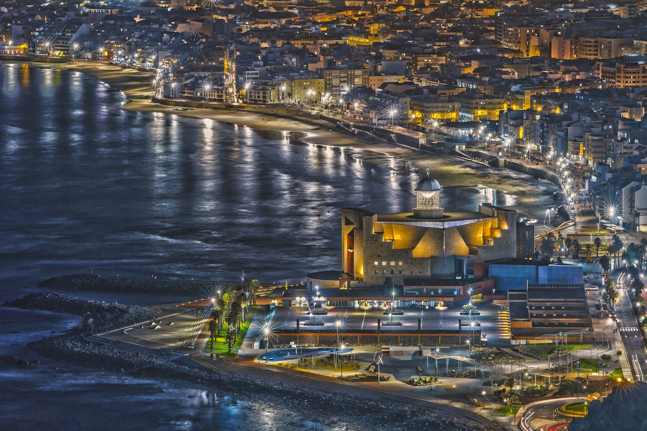 Canary Island Cards Aerial View Architecture Beach Bridge - Man Made Structure Building Exterior City Cityscape Gran Canaria Gran Canaria - Maspalomas Harbor Illuminated Las Cañadas Las Palmas LasPalmas Laspalmasdegrancanaria Nautical Vessel Night No People Outdoors River Travel Destinations Urban Skyline Water