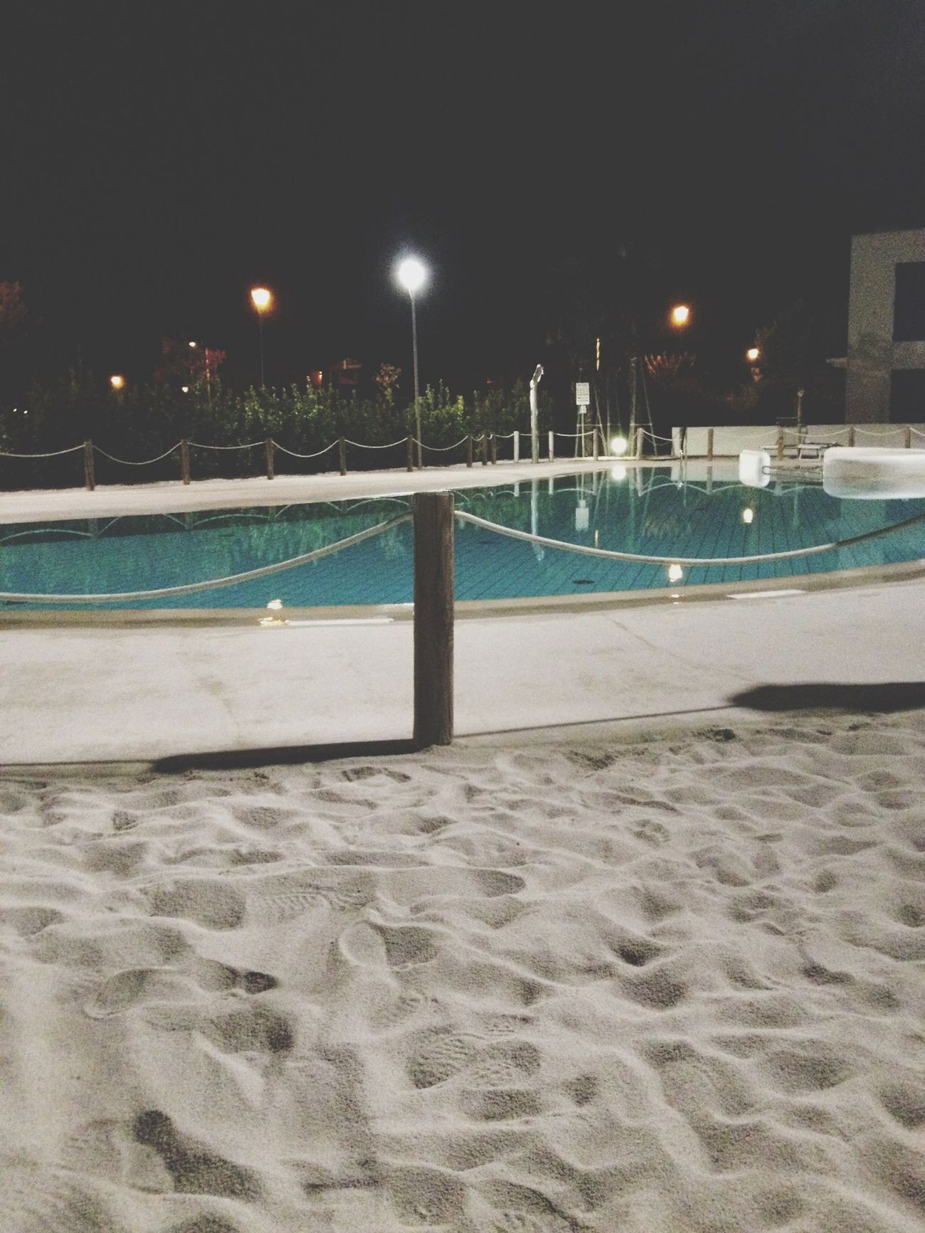 Swimming Pool Night Photography Jesolobeach Relaxing