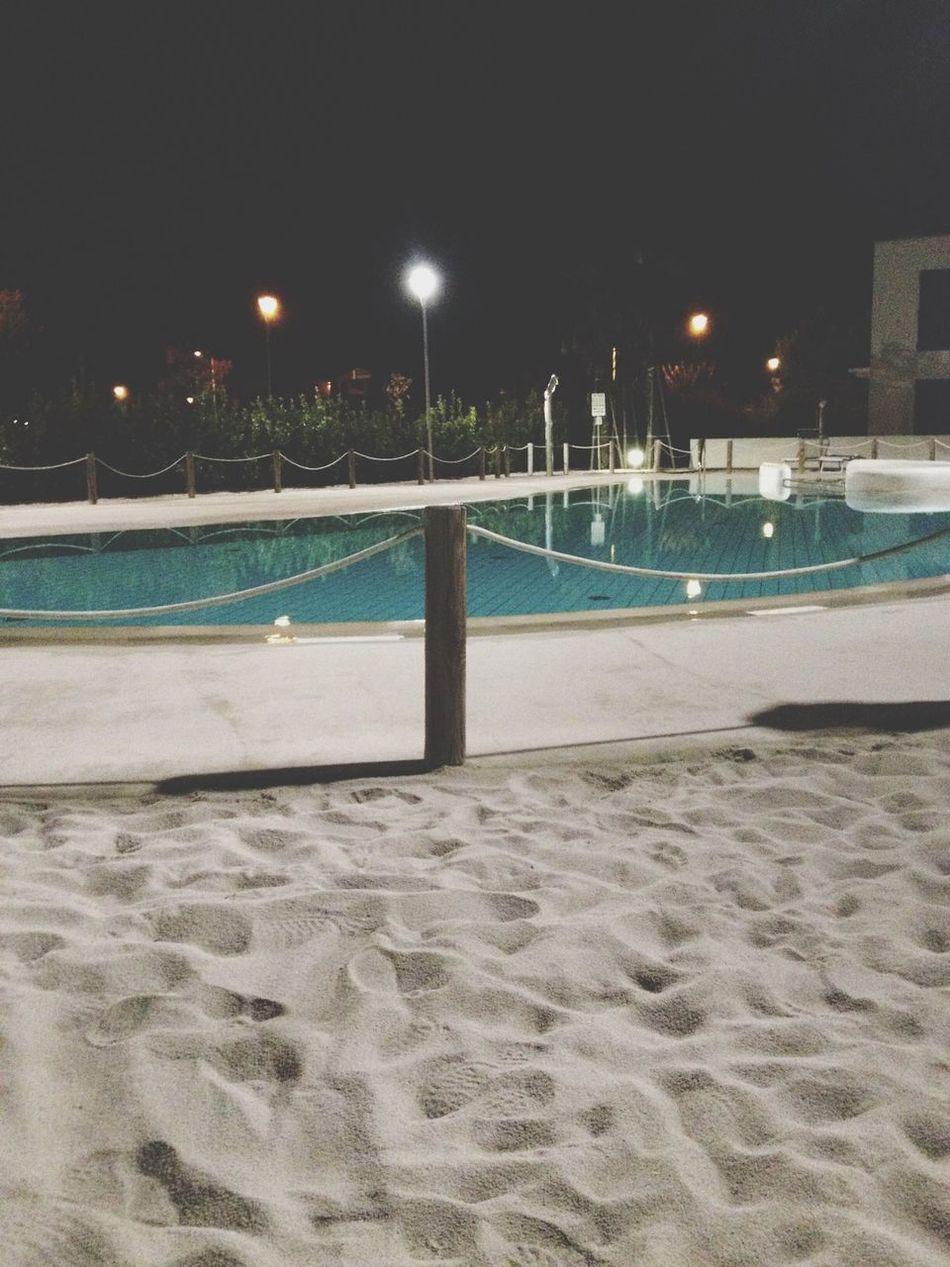 Swimming Pool Night Photography Jesolobeach Relaxing