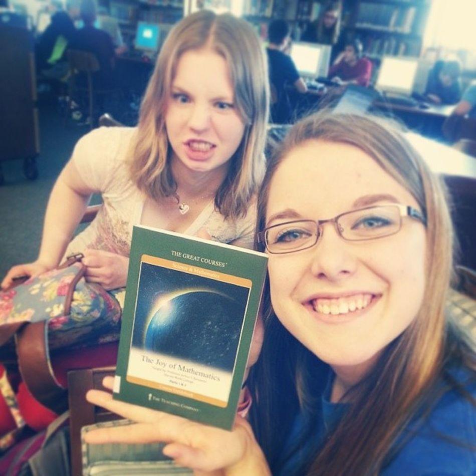"Megans favorite book... ""The Joy of Mathematics."" Yeahright Whocameupwiththattitle Mathnerd BestfriendsForEver book like4like spamforspam new turnitup @megs_erdman25"