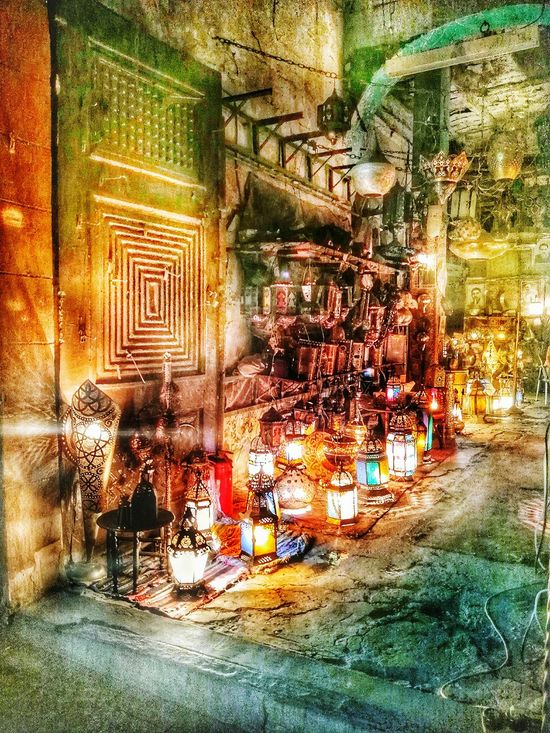 Even Ali baba cave decoration can't beat that ! You can enjoy the Handmade Illuminated joyful Lanterns & Lamps of Ramadan  in Khan_alkhalili in Cairo Outdoors No People Night Eyem Best Shots HDR HDR Streetphotography The Street Photographer - 2017 EyeEm Awards