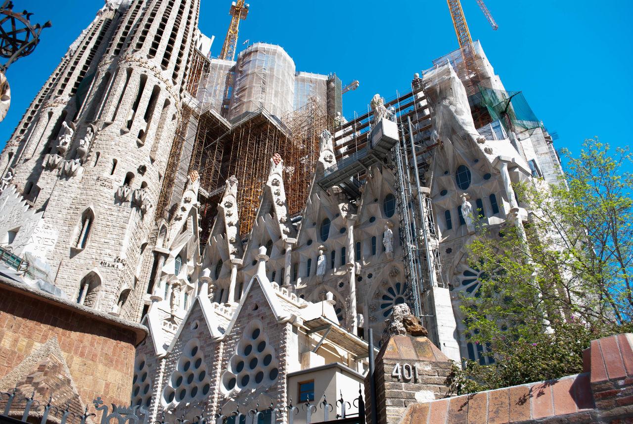 Architecture Building Exterior City Day Low Angle View No People Outdoors Religion Sagrada Familia Sagradafamilia Sky Tourism Travel Travel Destinations