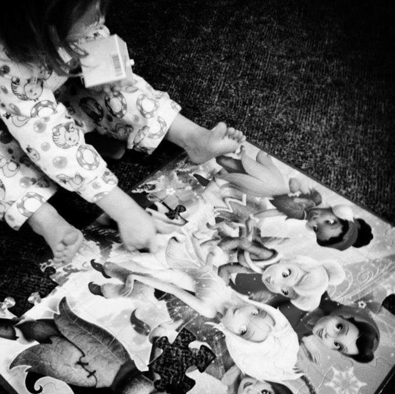 Kids Being Kids Kidsphotography Kids Playing Kids Kids Having Fun Puzzletime Puzzle  Playtime Cutiepie Littleprincess Blackandwhite DisneyPrincesses RePicture Growth