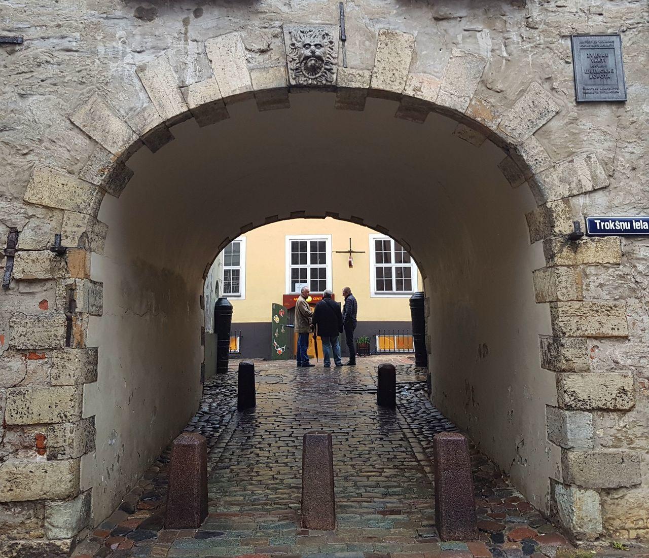 The Swedish Gate in Riga Architecture Gate Latvia People Riga Stone Stone Gate Swedish Gate