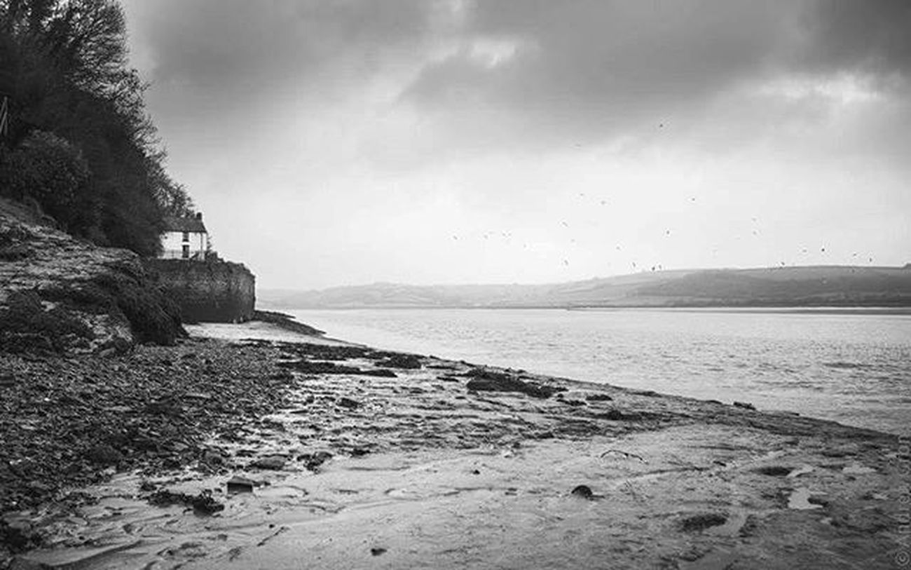 My morning. Wales Landscape Boathouse Laugharne DylanThomas Blackandwhite