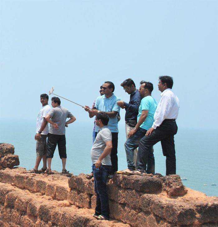 era of the mobiles n selfie sticks...we dont enjoy the view but just ourselfs :D Blue Boys Casual Clothing Day Friends Friendship Full Length Goa Leisure Activity Lifestyles Nature Ocen  Outdoors People Photography People Taking Photos People Watching Standing Taking Selfies Togetherness Vacations Random People Ocen_view Technology People Together Selfies Mobile Conversations