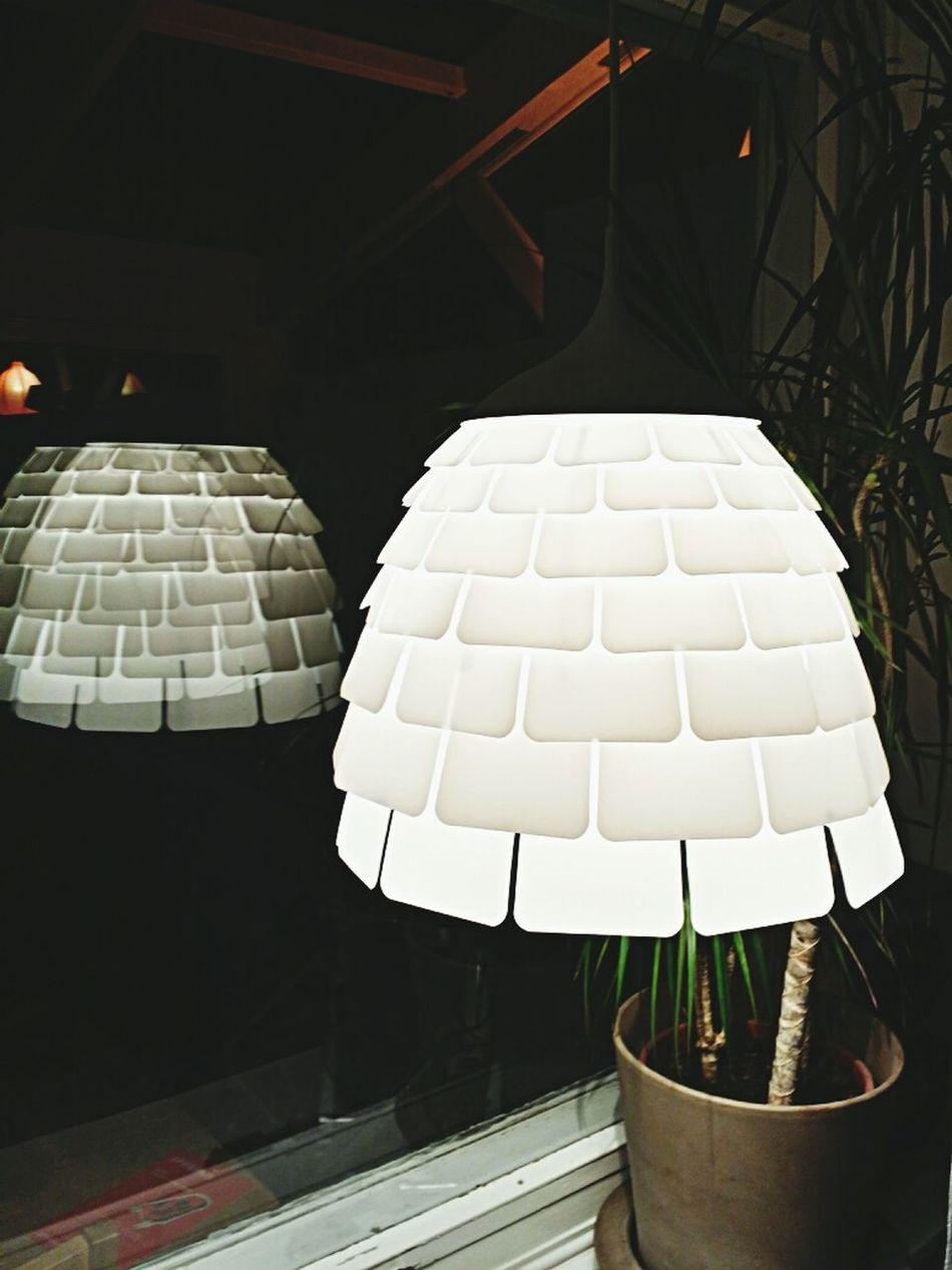My new lamp in the window. IKEA Kvartär My Home Galaxy Note 3