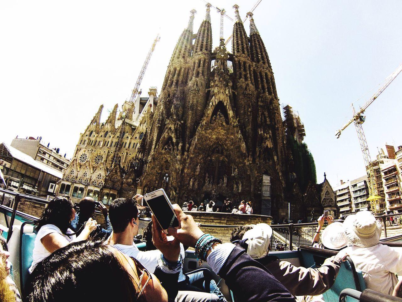 The Tourist Tourbus Tourism Citybus Barcelona♡♥♡♥♡ España Barcelona Barça Sagrada Familia Sagradafamilia Gopro