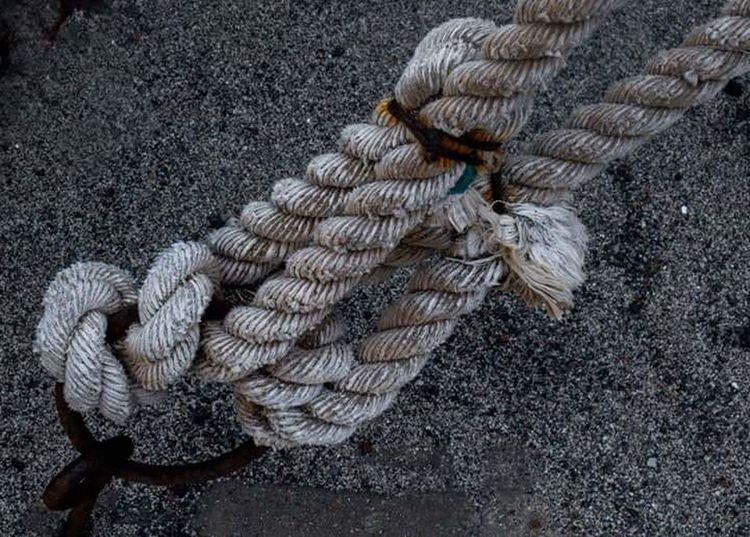 High Angle View No People Outdoors Close-up Nautical Vessel Rope
