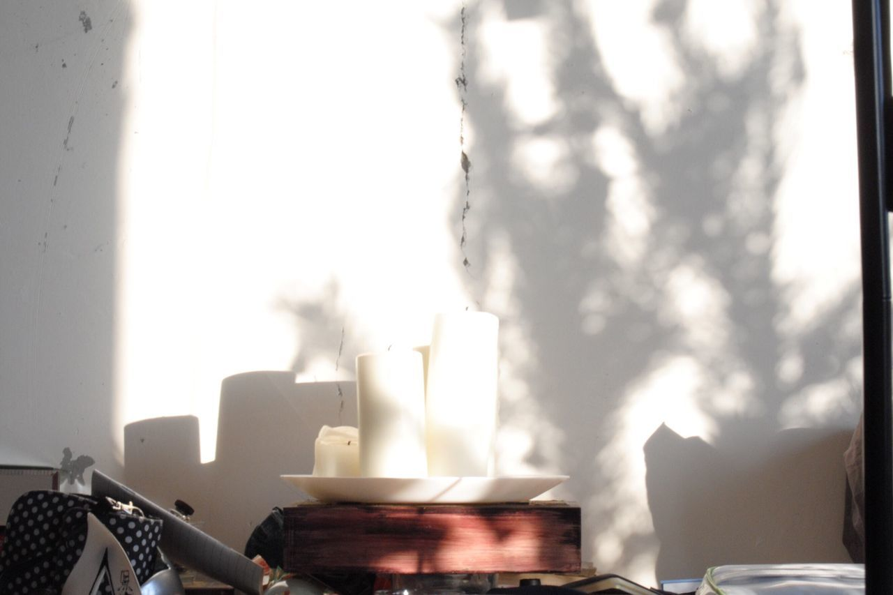 Candles Sunlight Light Wall White Whitewall White Candle Abstract No People
