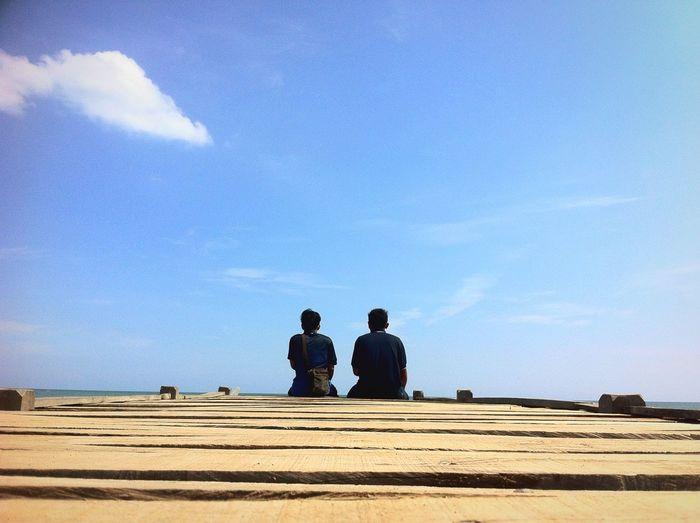 Two man. First Eyeem Photo Beach Day PhonePhotography Likeforlike Likealways