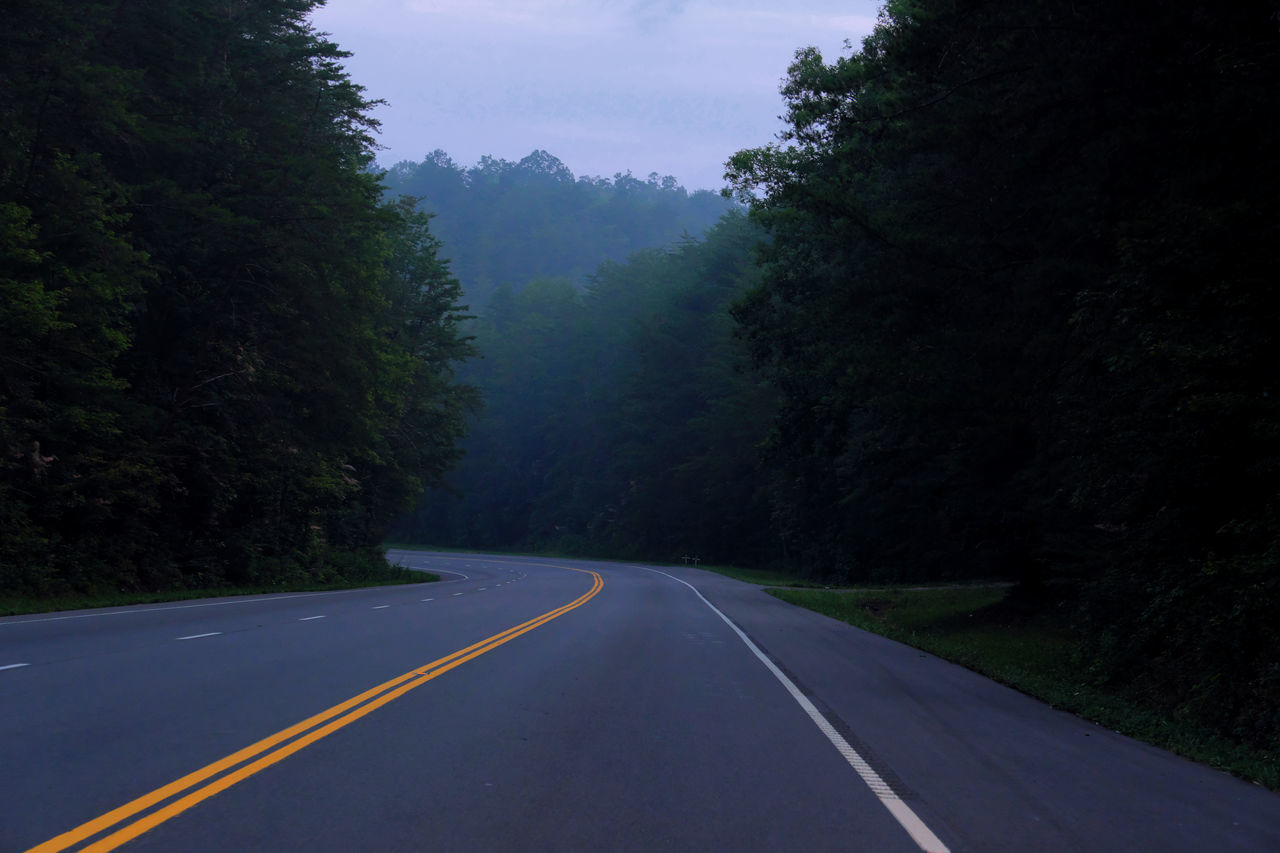 From My Point Of View Road Beauty In Nature Foggy Landscape Foggy Morning Highway No Vehicles Outdoors Scenics The Way Forward Tranquil Scene