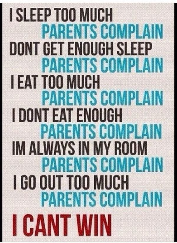 This is so True with my Parents