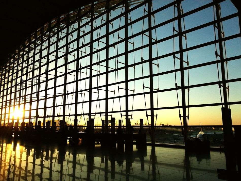 Intheairport Guess Sunrise Or Sunset Airport Travel Traveling Blue Red Sky