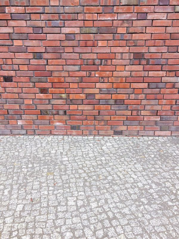 Brick Wall Pattern Cobblestone No People Full Frame Built Structure Architecture Backgrounds Wall - Building Feature Wall Textures And Surfaces Urban Geometry Partition city red grey color Segments