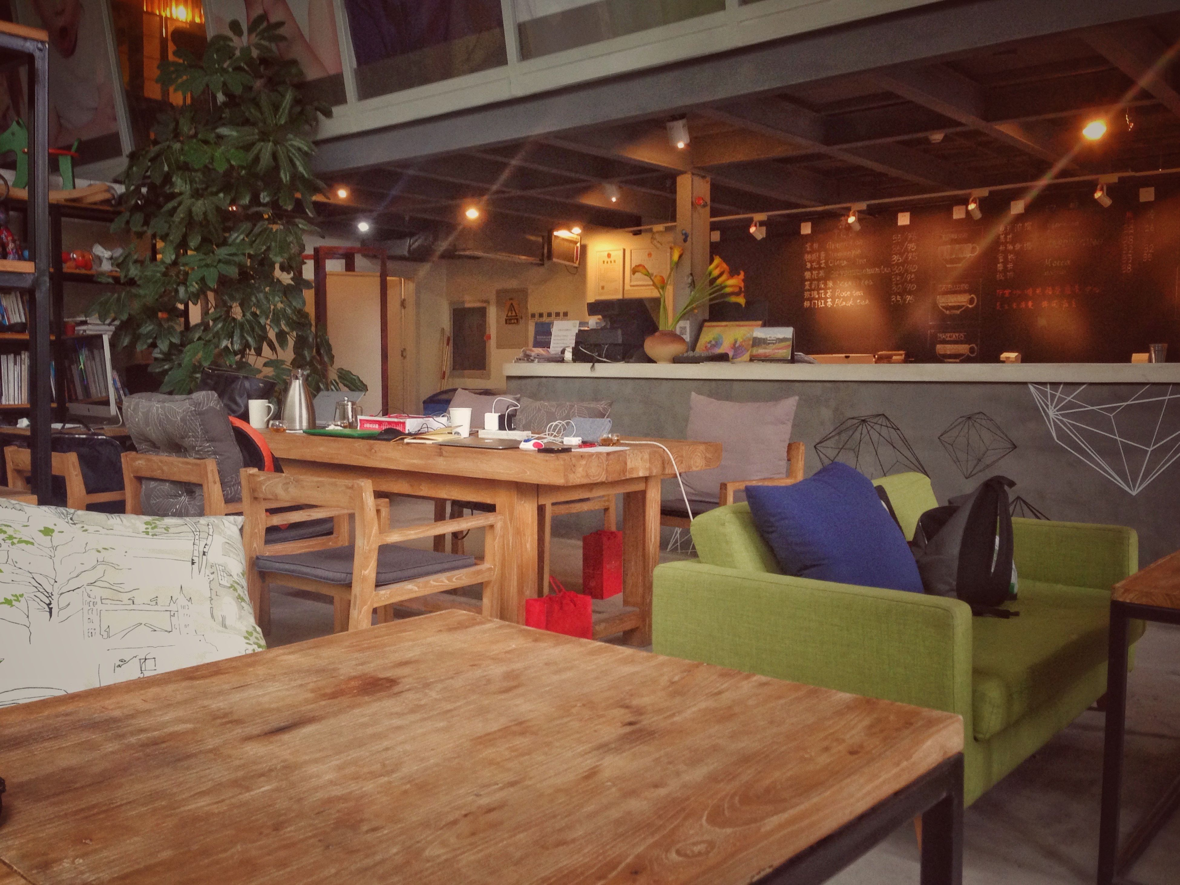 restaurant, absence, wood - material, empty, illuminated, no people, furniture, arrangement