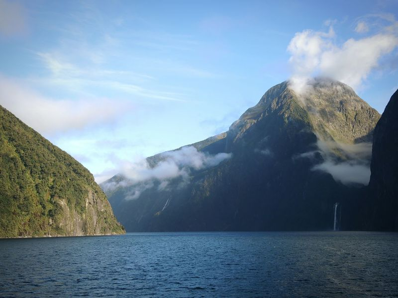New Zealand Nature New Zealand Beauty New Zealand Landscape Travel Waterfall Milford Milford Sound Fjord Landscapes With WhiteWall