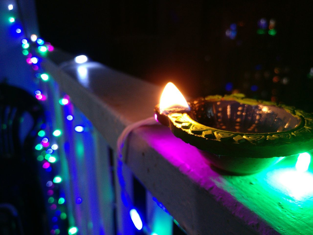 Lighting Equipment Illuminated Heat - Temperature No People Igniting Indoors  Close-up Night Festival Season Festival Of Lights Festival Diwali Diwali Lights Diwali2016 Diwali Night.... :-*