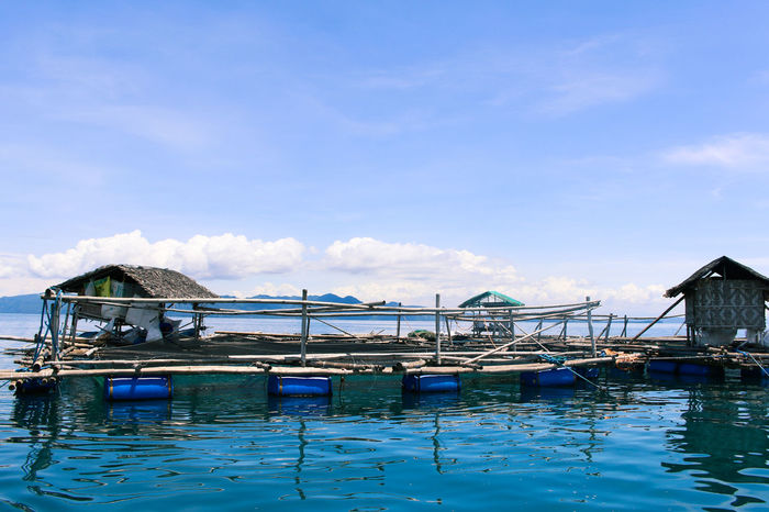 The Fishpen Architecture Buildings Blue Built Structure Sea Fishing Fishing Village