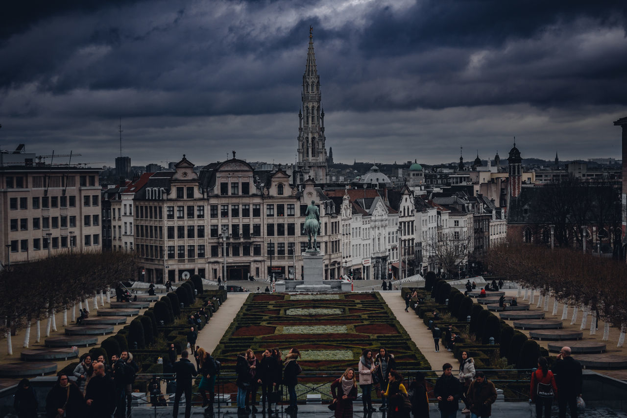 City Travel Destinations Cloud - Sky Outdoors Architecture Sky People Cityscape Day Brussels Belgium Spire  Church Tower EyeEm Best Shots EyeEm Gallery Colorful Symmetry Love EyeEm Best Edits Traveling EyeEm Colors Europe Exploring