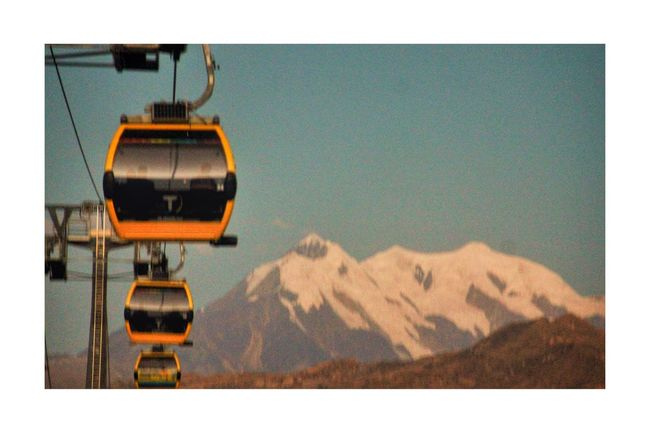 Illimani. Teleférico. La Paz Bolivia Transportation Snow Mode Of Transport Snowcapped Mountain Cold Temperature Travel Mountain Range Travel Destinations Tranquil Scene Scenics Tourism Beauty In Nature Nature Outdoors Majestic