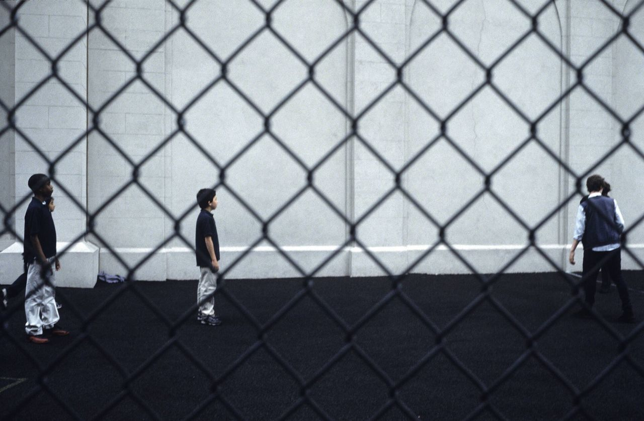 Beautiful stock photos of schule, chainlink fence, fence, real people, full length