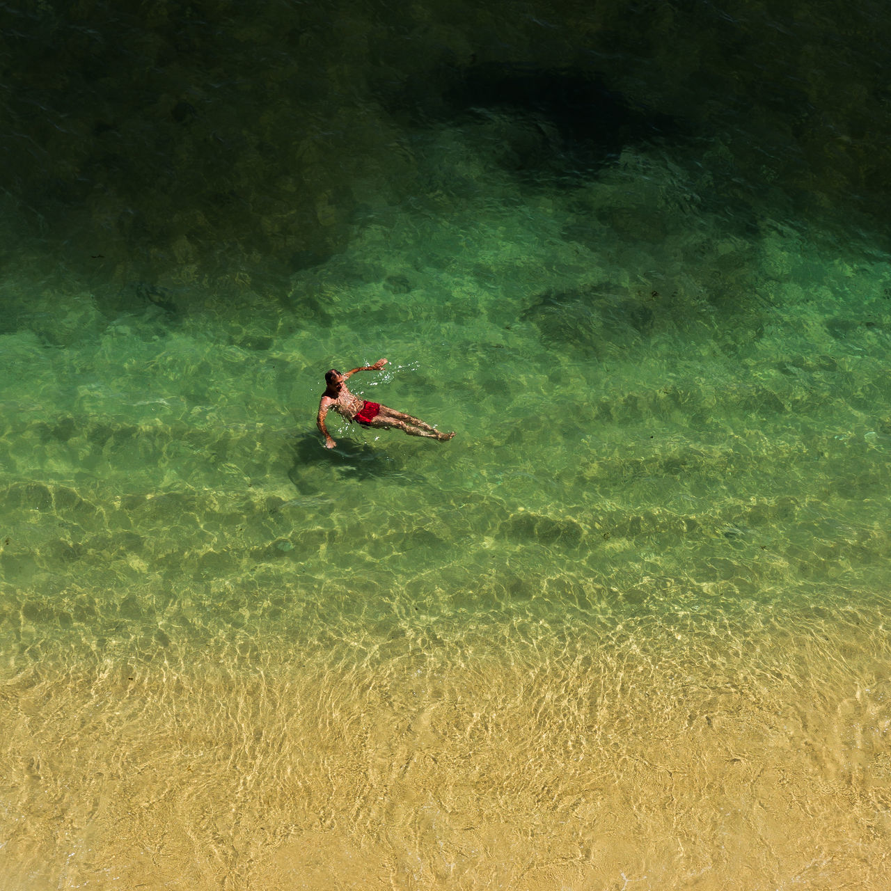 Alone In The Ocean Beachphotography High Angle View Leisure Activity Oceanside Outdoors Relaxing Moments Summer Swimming Vacations Flying High