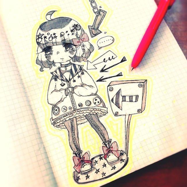 Drawing Illustration Girl Cute 「こっち見ないでよ」