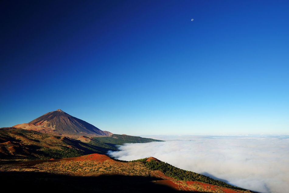 Beautiful stock photos of moon,  Beauty In Nature,  Blue,  Canary Islands,  Clear Sky