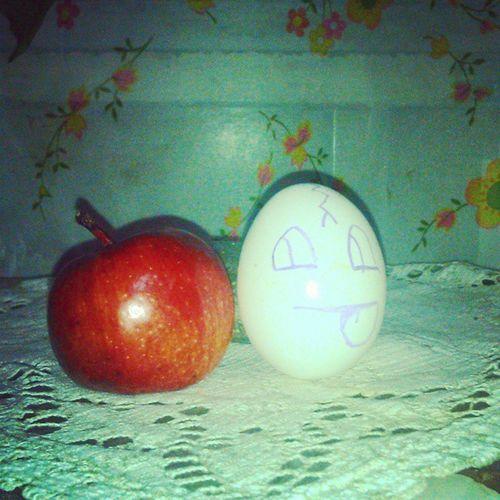 Les presento las manzanas de los precios cuidados! Precioscuidados Apple Egg Manzana Huevo Minimanzana