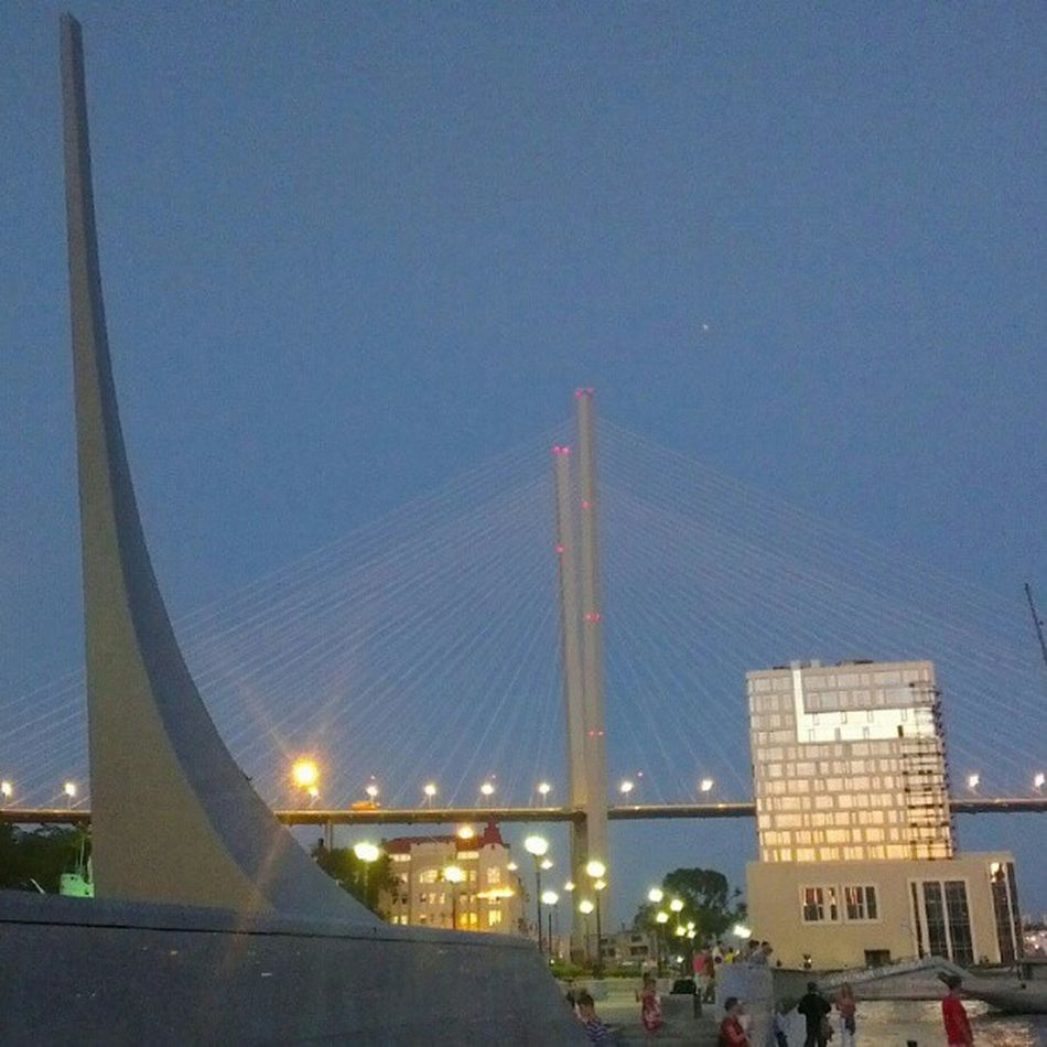 Вид на мост с корабельной набережной  Владивосток Vladivostok APEC2012  саммит