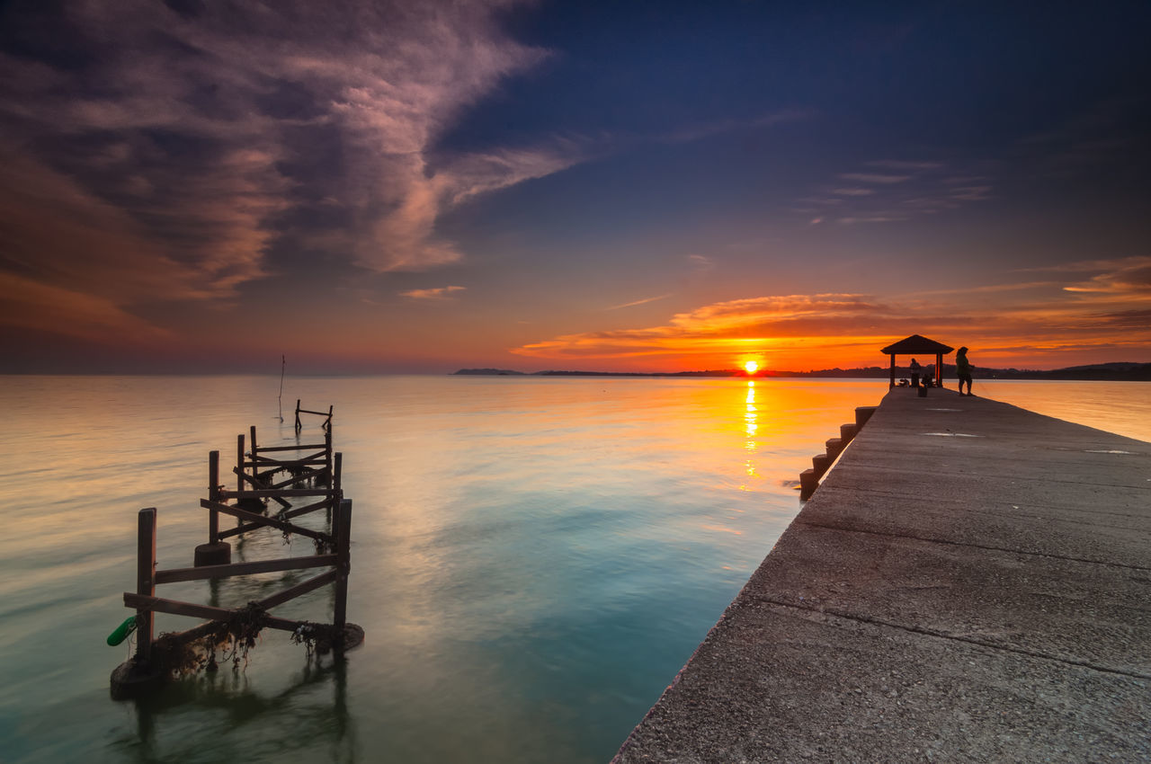 sunset at port dickson Beauty In Nature Calm Cloud Cloud - Sky Dramatic Sky Horizon Over Water Idyllic Majestic Malaysia Moody Sky Nature Orange Color Port Dickson Reflection Scenics Sea Sky Sun Sunset Tranquil Scene Tranquility Water