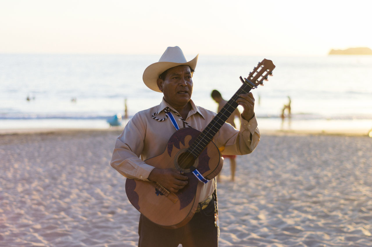 Beautiful stock photos of gitarre, music, one man only, hat, only men